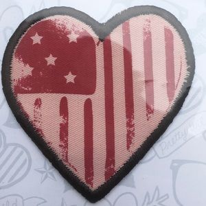 American Eagle Denim Jacket Patches Heart & Star